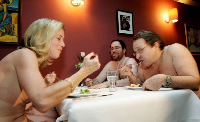 Clothing optional dinners