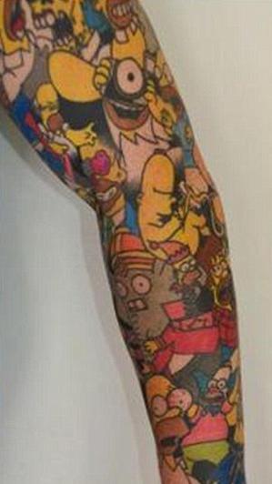 Tatouage Homer Simpson 2