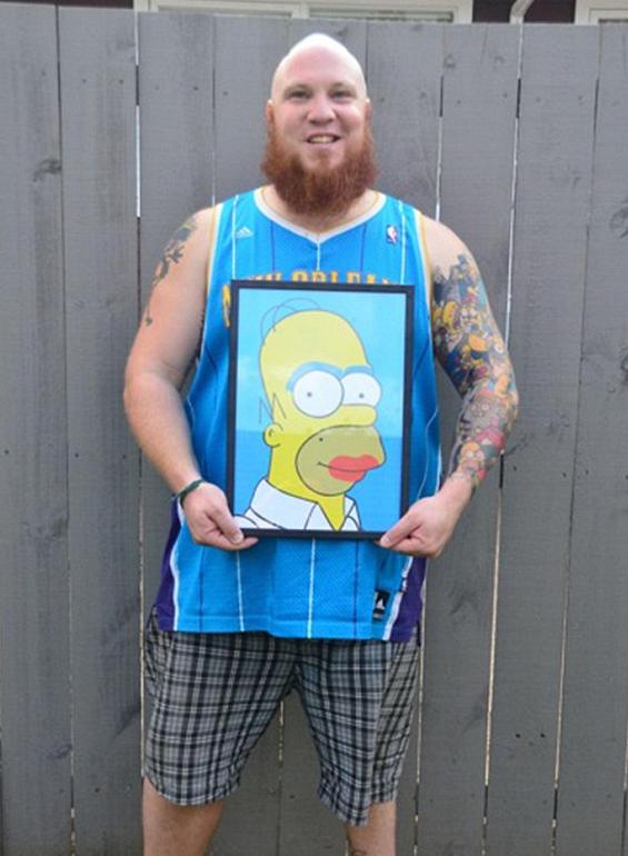 Tatouage Homer Simpson