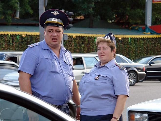 Photos insolites de policiers Russes