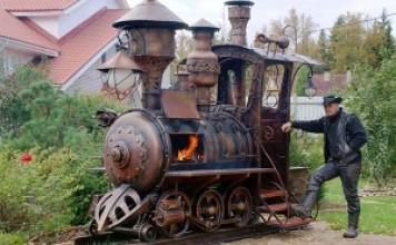 Locomotive à vapeur BBQ