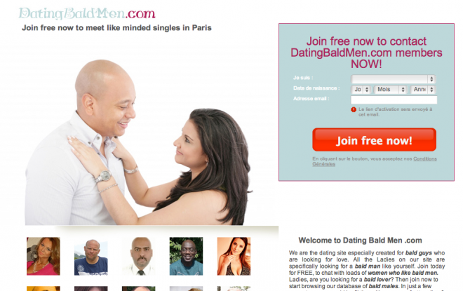 bald men dating site