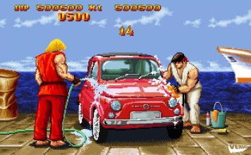 Street Fighter 2 Car Bonus Stage