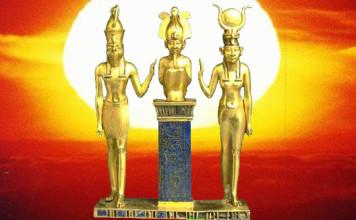 horus-osiris-isis-statuette-soleil
