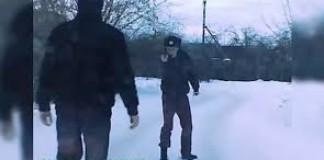 policier russe ivre