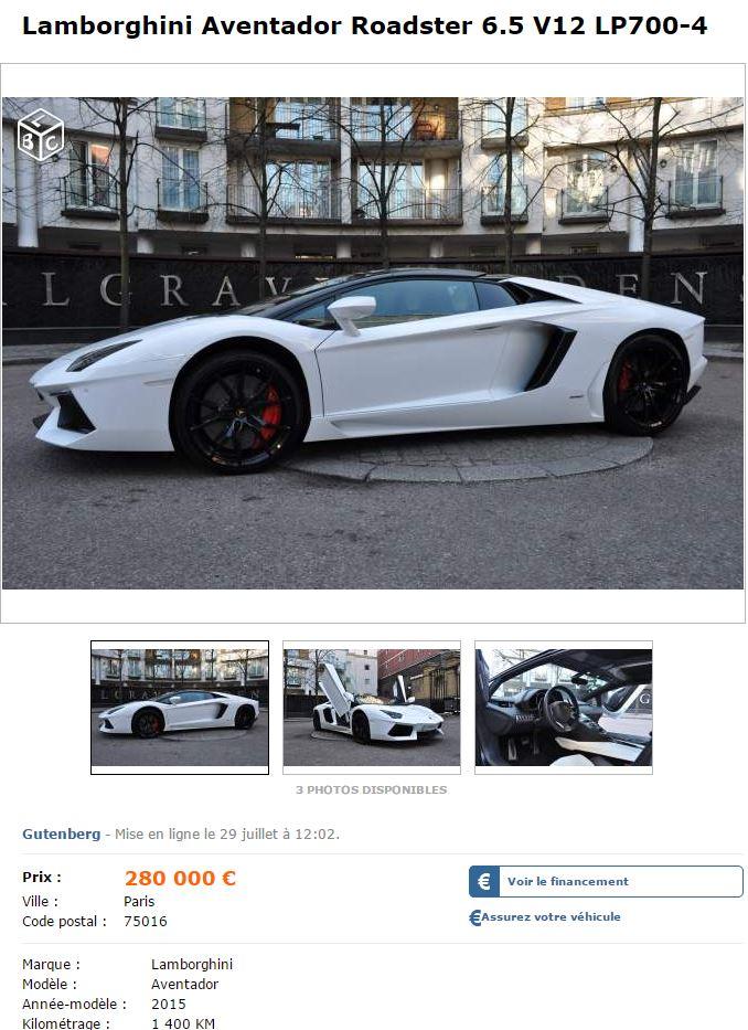 leboncoin-annonce-Lamborghini-Aventador-Roadster-1