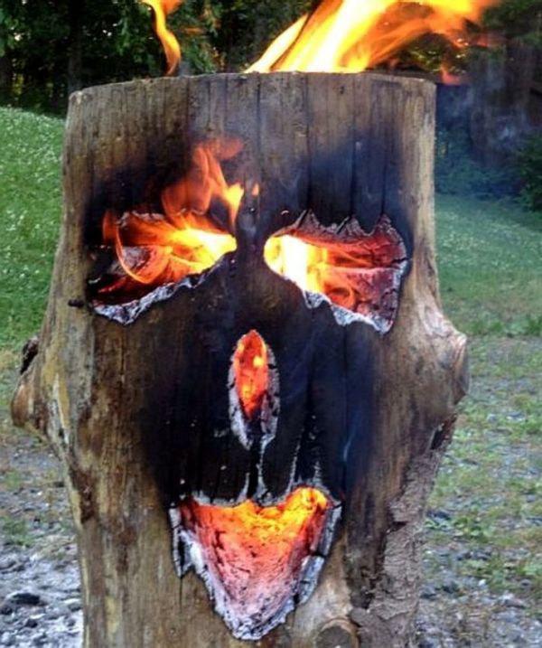 Прикольные горящие картинки, открытка