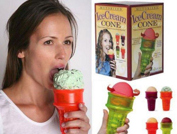 Le tourneur à glaces, pour manger sa boule sans bouger la langue