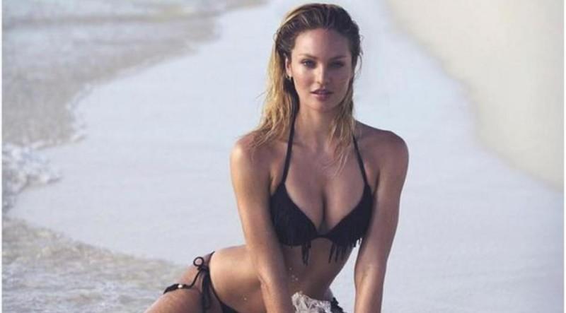 Candice swanepoel nue dans une piscine affole instagram for Nue a la piscine