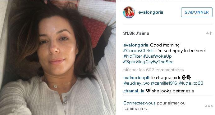 Eva Longoria sans maquillage au réveil