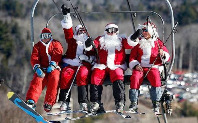 Pere-noel-au-ski