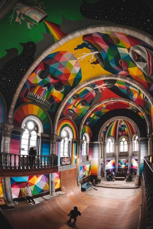 Eglise-skate-park-en-Espagne
