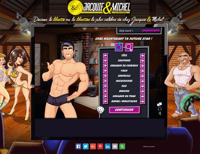 Un jeu vidéo pour devenir une star du porno Merci Jacquie et Michel