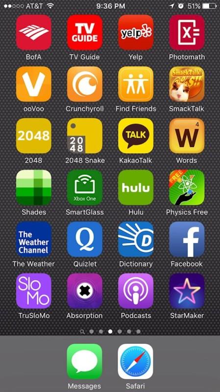 04. classer ses appli par color