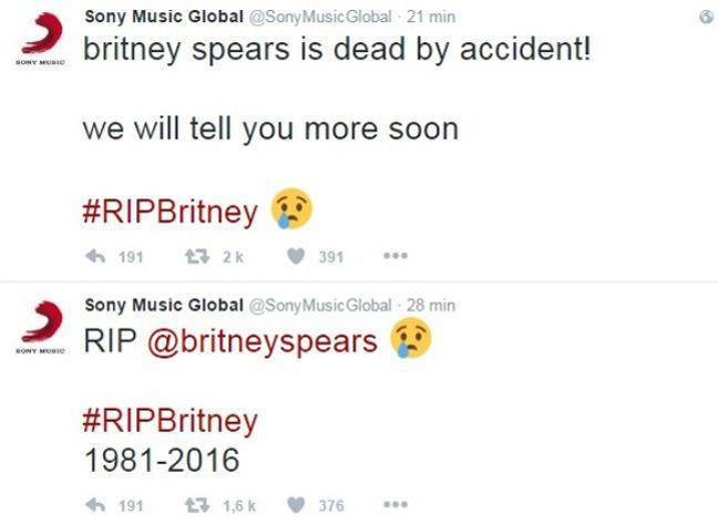 Britney Spears morte