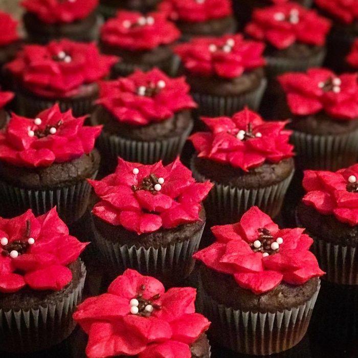 top 30 des id es cr atives pour des cupcakes de no l. Black Bedroom Furniture Sets. Home Design Ideas