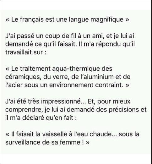 Image drôle du jour (Le français est une langue magnifique…)