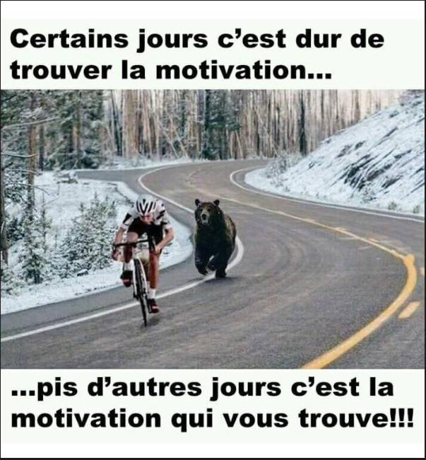 Image drôle du jour (Quand la motivation arrive…) - Breakforbuzz