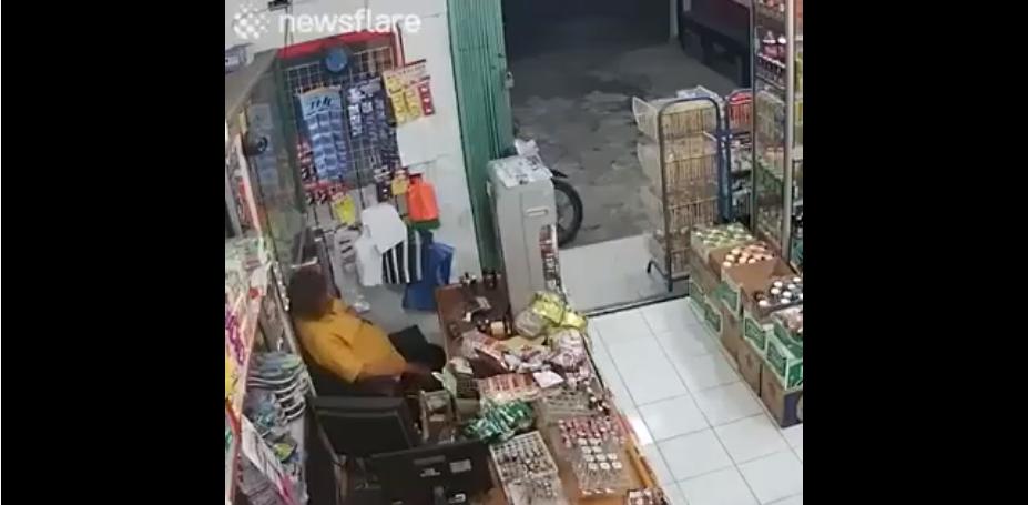 Un voleur fait une boulette en voulant voler la caisse d'une supérette