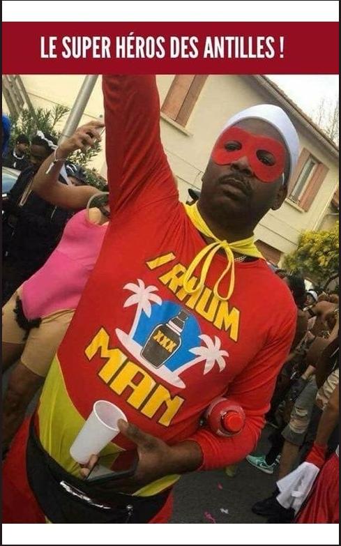 Image drôle du jour (Le super héros des Antilles…)