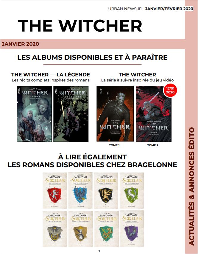 Comics Witcher chez Urban Comics