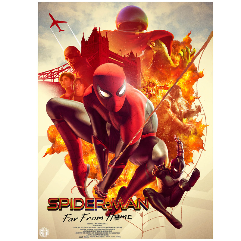 Marvel-Spider-Man-Far-From-Home-Lithograph-Print-by-Carlos-Dattoli