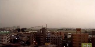 Ce train japonais se fait foudroyer pendant un orage