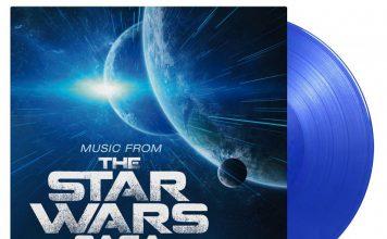 Compilation-musiques-Star-Wars-Saga-Vinyle-bleu-édition-limitée