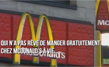 manger gratuitement au McDonalds