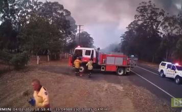 L'instinct de survie des pompiers Australiens