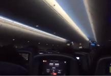 Une passagère panique totalement pendant l'atterrissage de son avion en pleine tempête Ciara