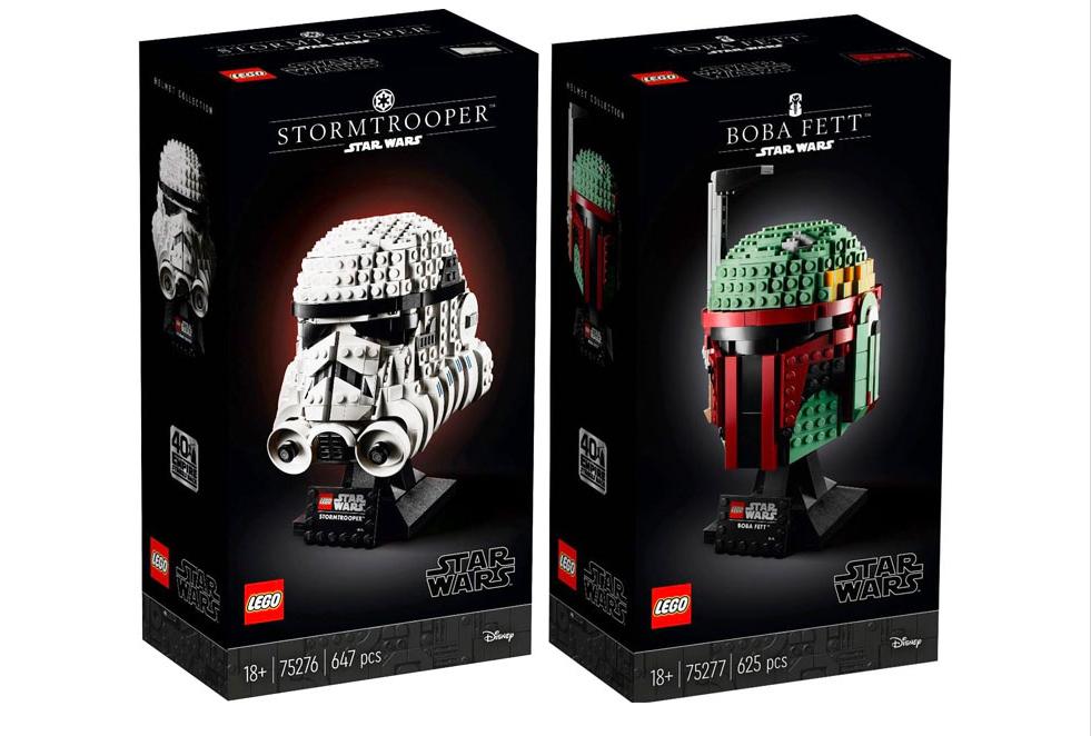 LEGO Star Wars - Casques de Stormtrooper et Boba Fett