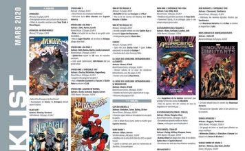 planning comics de mars de Panini Comics