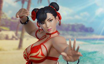 Figurine-de-Chun-Li-en-bikini-rouge-dans-Street-Fighter-par-PCS
