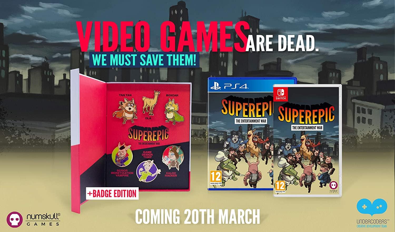 SuperEpic The Entertainment War Badge – Collectors Edition